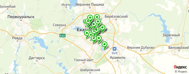 женские консультации на карте Екатеринбурга