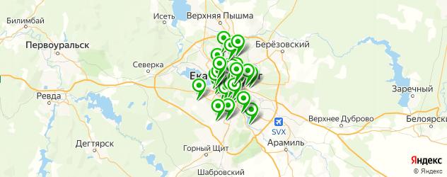детские сады на карте Екатеринбурга