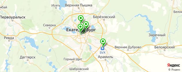банкоматы с долларами на карте Екатеринбурга