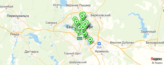 детские стоматологические поликлиники на карте Екатеринбурга