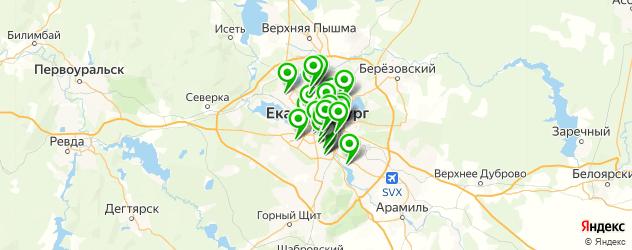 ателье на карте Екатеринбурга