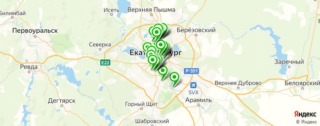 автошколы на карте Екатеринбурга