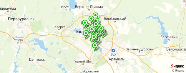 обувные мастерские на карте Екатеринбурга