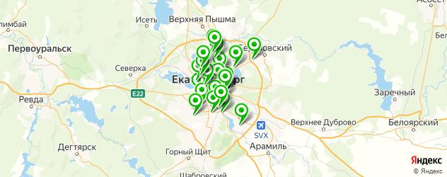 магазины шин и дисков на карте Екатеринбурга