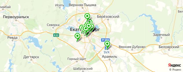 отметити новый год в кафе на карте Екатеринбурга