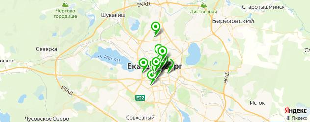 еда на вынос на карте Екатеринбурга