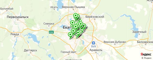 детская игровая комната на карте Екатеринбурга