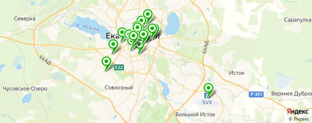 кафе на карте Екатеринбурга