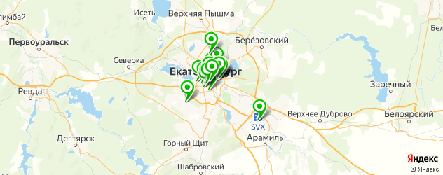кафе для корпоратива на карте Екатеринбурга