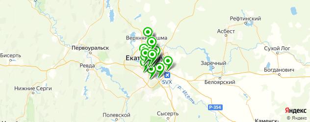 фитнесы с бассейном на карте Екатеринбурга
