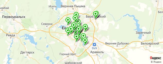 йога-центры на карте Екатеринбурга