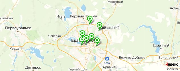 эвакуаторы спецтехники на карте Екатеринбурга