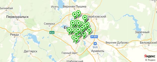 бани с бассейном на карте Екатеринбурга