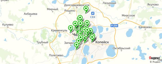 гаражи на карте Челябинска