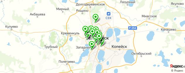 стоматологические клиники на карте Челябинска