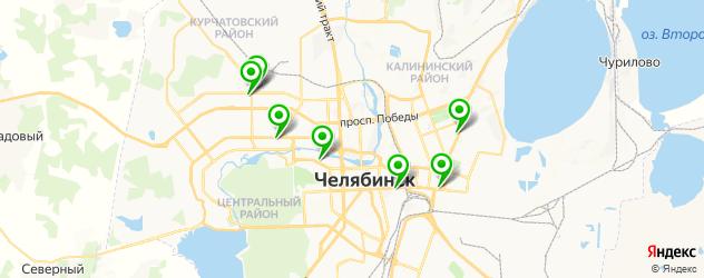 медицинский педикюр на карте Челябинска