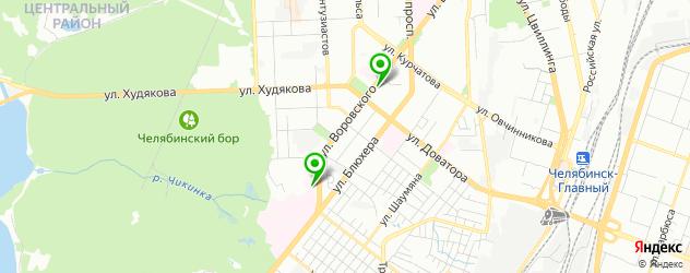 станции переливания крови на карте улицы Блюхера