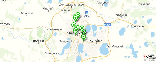 стоматологические поликлиники на карте Челябинска