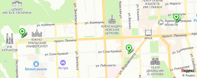 антикафе на карте Челябинска