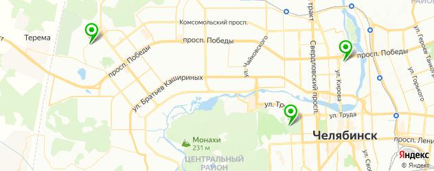 стрелковые клубы на карте Челябинска