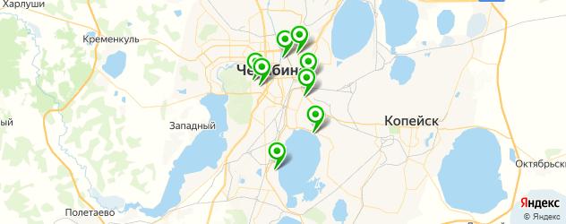 фитнесы с бассейном на карте Челябинска