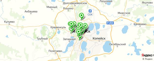 кондитерские на карте Челябинска