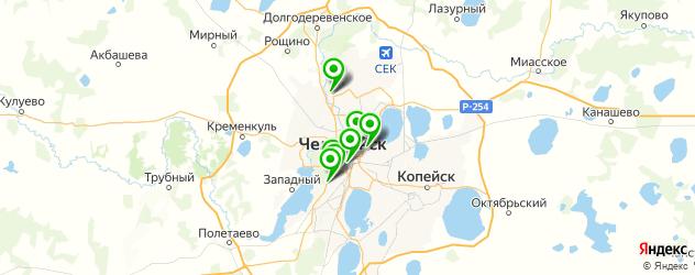 детские больницы на карте Челябинска
