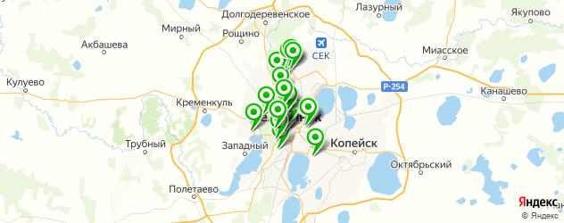 НИИ на карте Челябинска