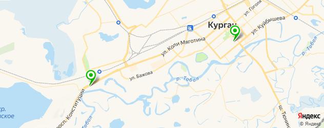 детские больницы на карте Кургана