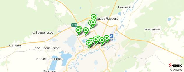 спортивные школы на карте Кургана