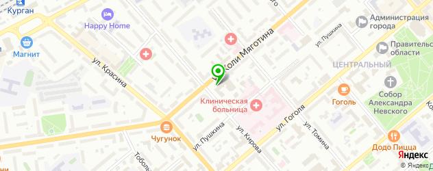 грузинские рестораны на карте Кургана