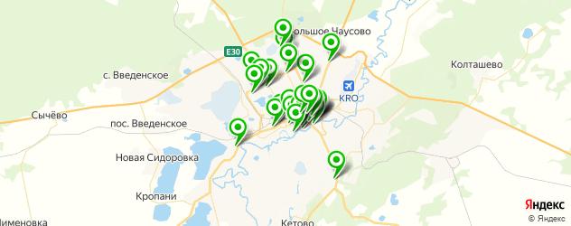 Спорт и фитнес на карте Кургана