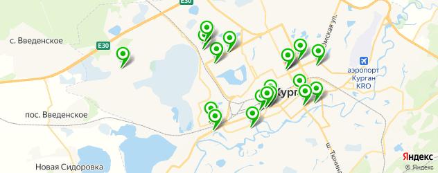 спортивные секции на карте Кургана
