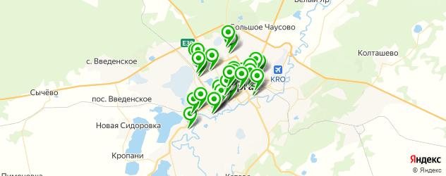 автостоянки на карте Кургана