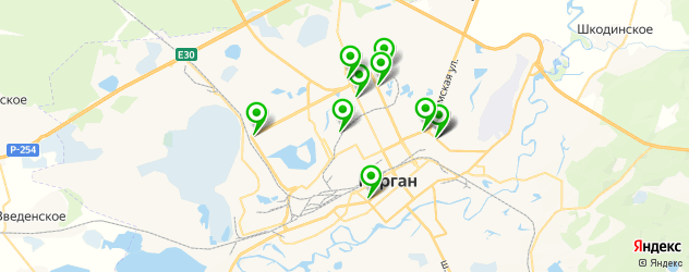 магазины запчастей Рено на карте Кургана