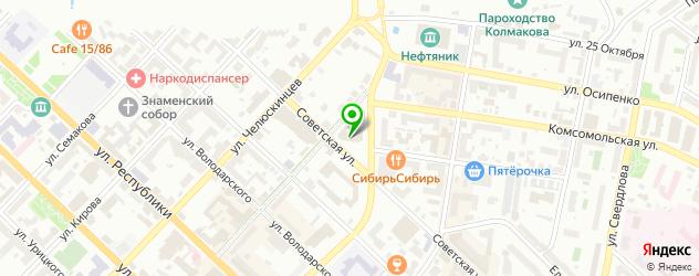 парковки на карте Тюмени