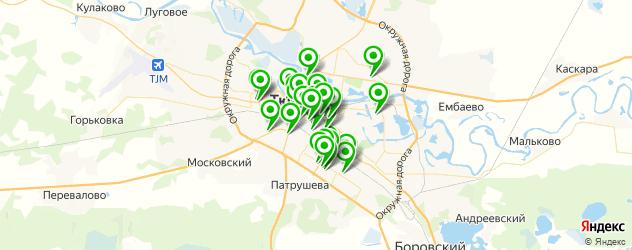 ремонт телефонов на карте Тюмени