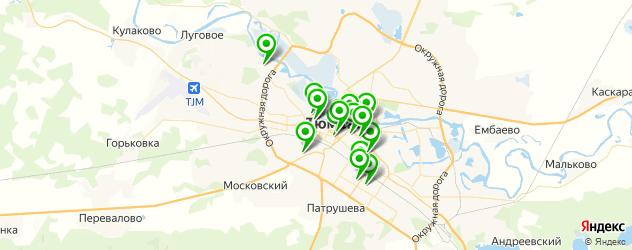 фитнесы с бассейном на карте Тюмени