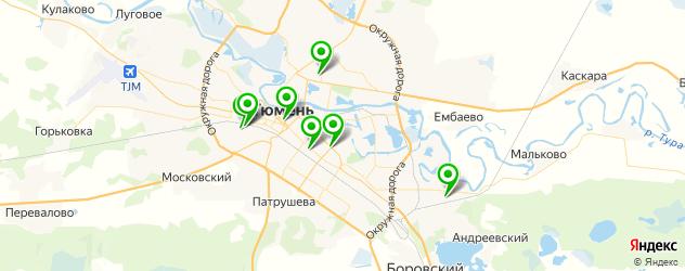 лицеи на карте Тюмени
