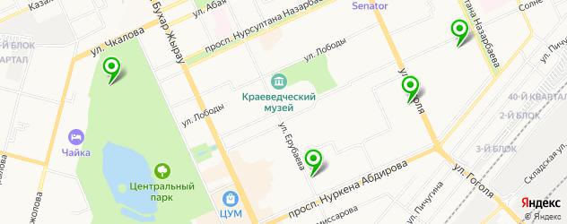 йога-центры на карте Караганды