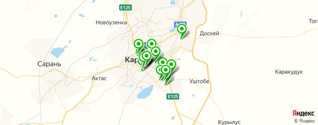спортивные секции на карте Қарағанды