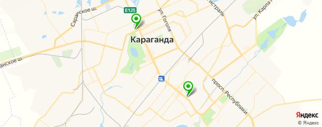 спортивные мастерские на карте Караганды