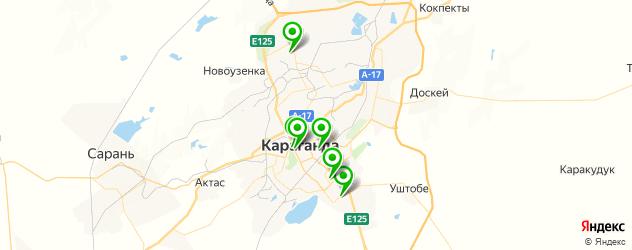 спортивные клубы на карте Қарағанды