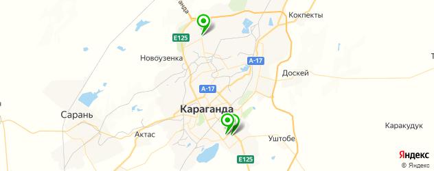 мотосалоны на карте Караганды