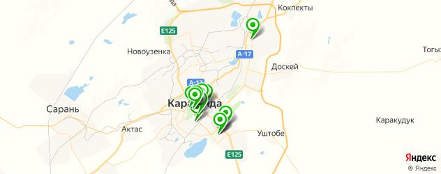 салоны бровей на карте Караганды