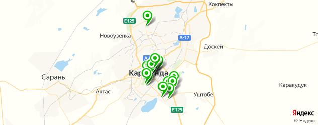 ночные клубы на карте Қарағанды