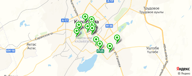 диагностические центры на карте Караганды