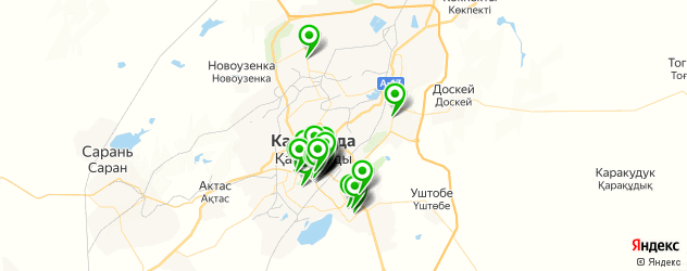 банки на карте Қарағанды