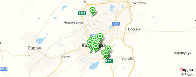 банки на карте Караганды