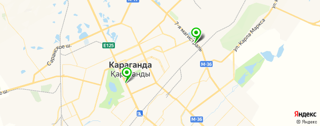 гаражи на карте Караганды
